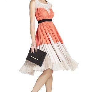 BCBG Maxazria Lucea color blocked A-line dress